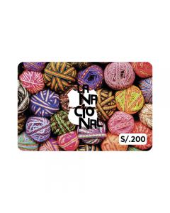 Gift Card La Nacional S/.200