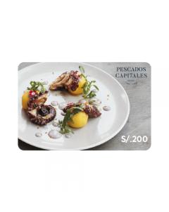 Gif Card Pescados Capitales S/.200