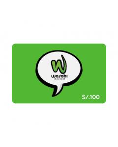 Gift Card Wasabi S/. 100