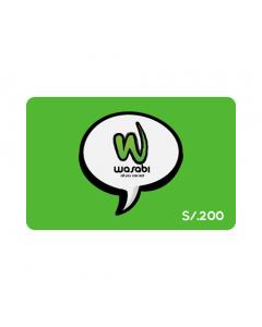 Gift Card Wasabi S/. 200