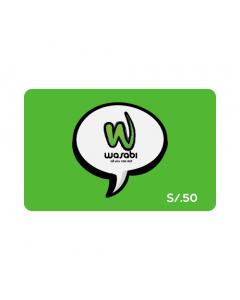 Gift Card Wasabi S/. 50