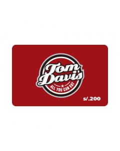 Gift Card Tom Davis S/. 200