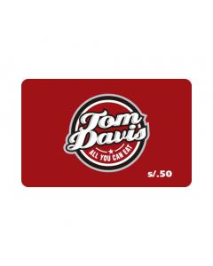 Gift Card Tom Davis S/. 50