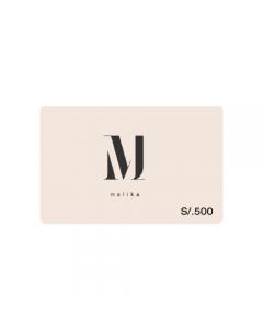 Gift Card Malika S/. 500