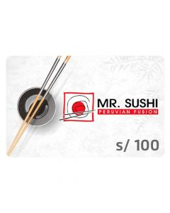 Gift Card Mr.Sushi S/ 100