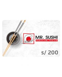 Gift Card Mr.Sushi S/ 200
