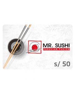 Gift Card Mr.Sushi S/ 50
