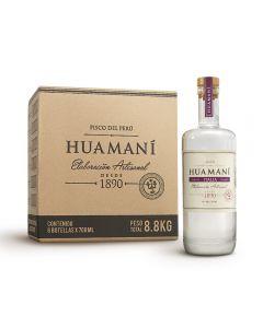 Caja de 6 Botellas Pisco Huamaní Italia 700ml