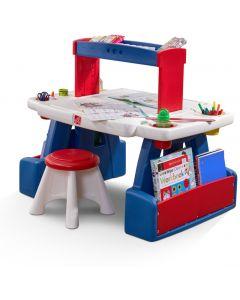Escritorio Infantil STEP2 Para Proyectos Azul/Rojo