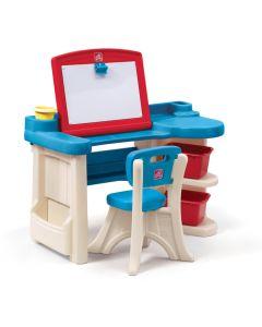 Escritorio Infantil STEP2 Estudio de Arte Azul/Blanco
