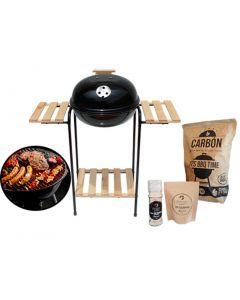 Grill Con Madera + Carbon 2 kg + Sal de Maras