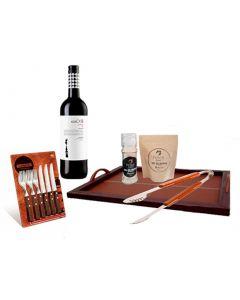 Azafate + Set Utensilios x 12 pzs Tramontina + Pack Molino + Zipper  + Pinza + Vino Tinto