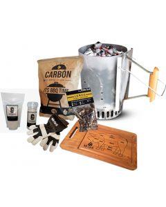 Rapibrasa + Tabla Pig + Carbon 2kg + Sal de Maras en Molino + Zipper + Leños ahumadores