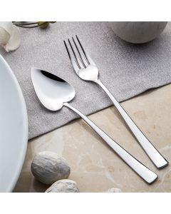 Cucharitas y tenedores de dulce. acero inoxidable 18/10 Cr-Ni de (6+6) piezas