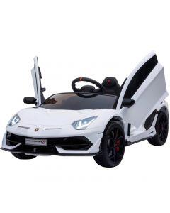 Coche Eléctrico Tipo Lamborghini Genérico Importado Blanco