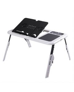 Mesa Con Cooler Para Laptop E-Table LD09 Gris/Negro
