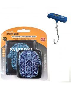 Porta Pasaporte/Balanza Miami Carry On RFIDWSBLHAM/TRSC02BL