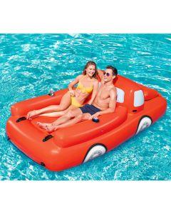 Flotador Camion Rojo Con Cooler Y Portavasos 280 X 149Cm Soporta: 180Kg