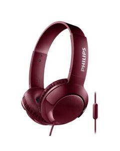 Audífono Tipo Dj Plegable Super Bass Shl3075/Rd - Rojo