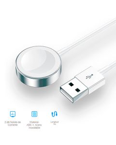 Cargador Inalambrico Metal Para Apple Watch Blanco Us-Cc064 - Usams