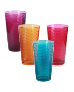 Set X 4 Vasos Colores 17 Oz.