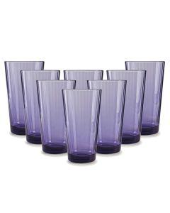 Set X 8 Vasos Vidrio Plum 17 Oz.