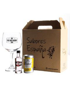 Gin Tonic Box Berry 50Ml + Agua Tónica + Copa De Vidrio - Cortijo