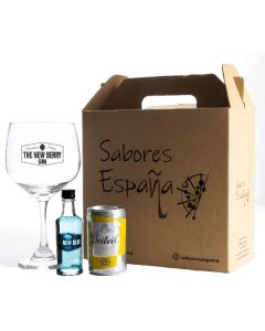 Gin Tonic Box Blue 50Ml + Agua Tónica + Copa De Vidrio - Cortijo