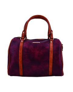 Cartera Bowling Bag Marca Nicole Daniel 9001 - Rojo Vino