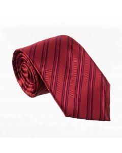 Corbata VILLA CRAVATTA rayada roja