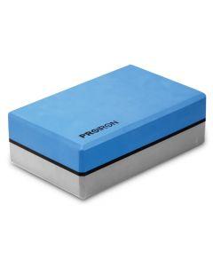 Bloque De Yoga ProIron 76 mm Azul Y Gris