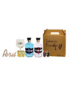 Gin Box FiestasPatrias Sabores España Pack Gin/Ginebra 700ml