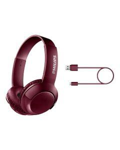 Audífonos C/Micrófono Bluetooth Philips SHB3075RD Rojo