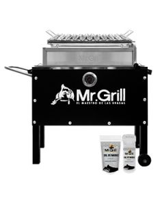 Caja China M C/Termostato + Parrilla Mr.Grill CCM0003 Negro