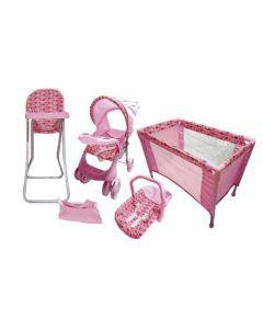 Set de Muñeca Baby Kits Maxi Doll Corazón Rosado