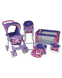 Set de Muñeca Baby Kits Maxi Doll Flores Morado