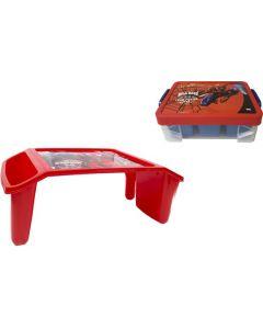 Caja Stacker +Mesita de Actividades Duraplast Spiderman Rojo