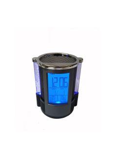 Portalapiceros Reloj Holder Multifunción Luz y Alarma Negro