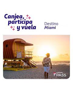 Ticket de participacion en sorteo de dos pasajes a Miami